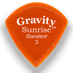 Gravity Picks Sunrise Standard Polished Pick, 3mm, Orange