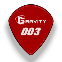 Gravity Picks 003 Jazz III Standard Pick, 1.5mm, Red