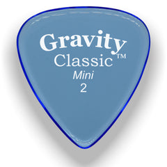 Gravity Picks Classic Mini Polished Pick, 2mm, Blue