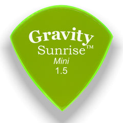 Gravity Picks Sunrise Mini Polished Pick, 1.5mm, Florescent Green