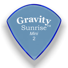 Gravity Picks Sunrise Mini Polished Pick, 2mm, Blue
