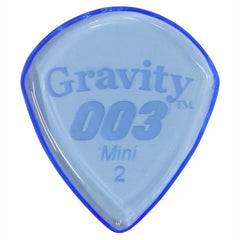 Gravity Picks 003 Jazz III Mini Pick, 2mm, Blue