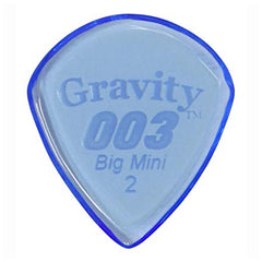 Gravity Picks 003 Jazz III Big Mini Pick, 2mm, Blue