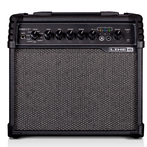 Line 6 Spider V 20 MkII Amplifier, Black, front