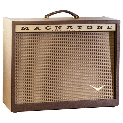 Magnatone Single V 212 Combo Amplifier, Vintage Brown