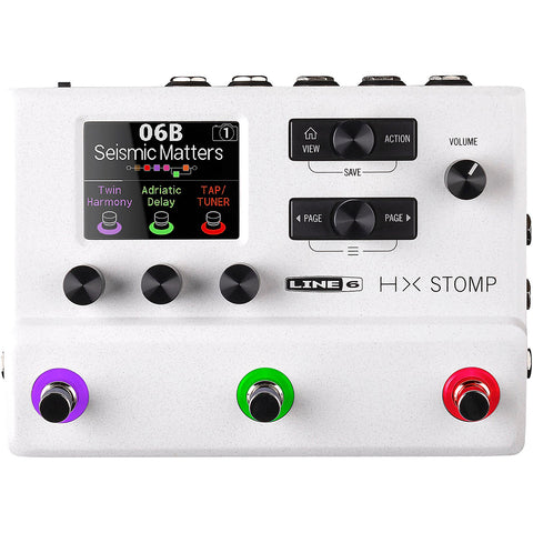 Line 6 HX Stomp Limited Edition Compact Guitar Processor, Stomptrooper White