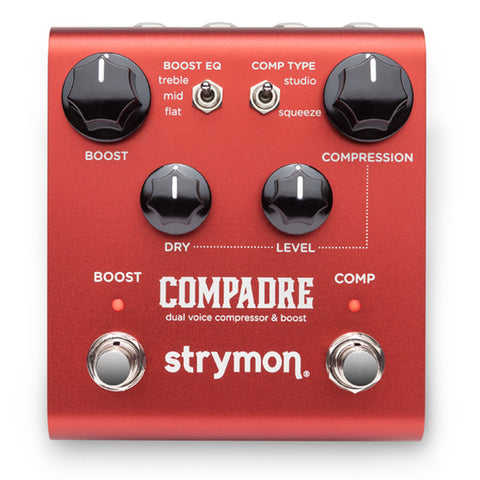 Strymon Compadre Dual Voice Compressor & Boost Effects Pedal