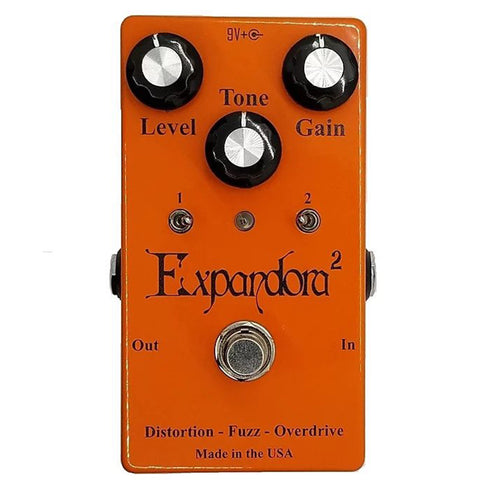 Expandora Squared Distortion Fuzz Overdrive Effects Pedal