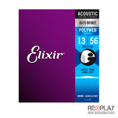 Elixir Medium Acoustic 80/20 Bronze with POLYWEB® Coating