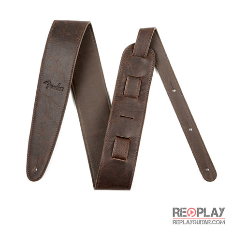 "Fender Artisan Crafted Leather Strap - 2.5"" Brown"
