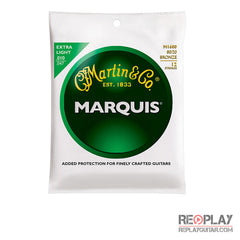 Martin M1600 12-String Marquis 80/20 Bronze Extra Light Acoustic Guitar Strings