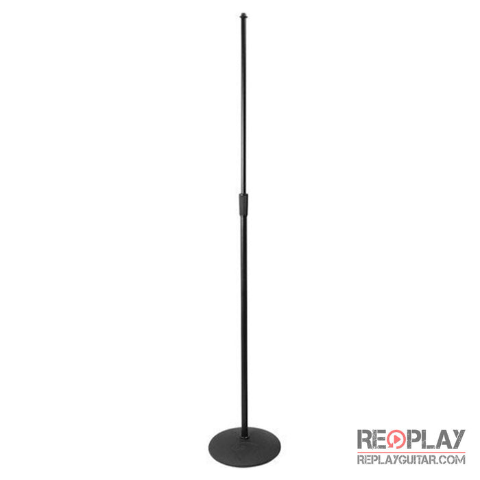 "On-Stage Heavy Duty Low Profile Mic Stand with 10"" Base"