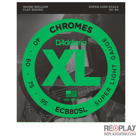 D'Addario ECB80SL Chromes Bass, Light, 40-95, Super Long Scale