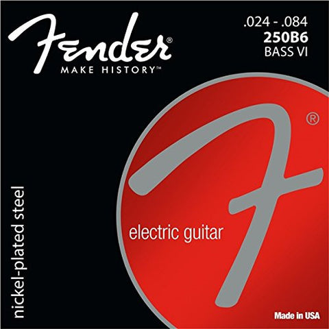 Fender SUPER 250'S NICKEL-PLATED STEEL BASS VI STRINGS