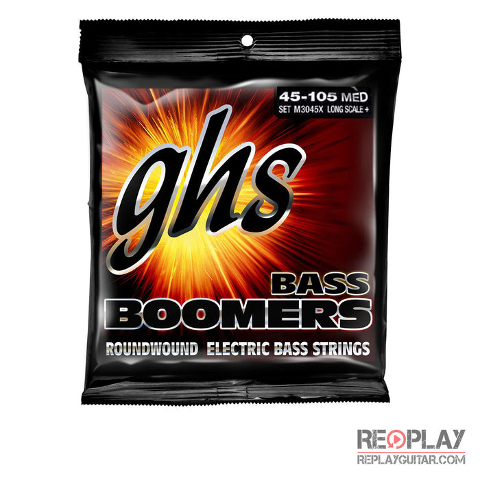 GHS M3045X Bass Boomers Roundwound Extra-Long Scale Medium (45-105)