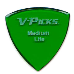 V-Picks Medium Pointed Lite, Emerald Green