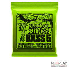 Ernie Ball Regular Slinky 5-String, Nickel Wound Bass Strings