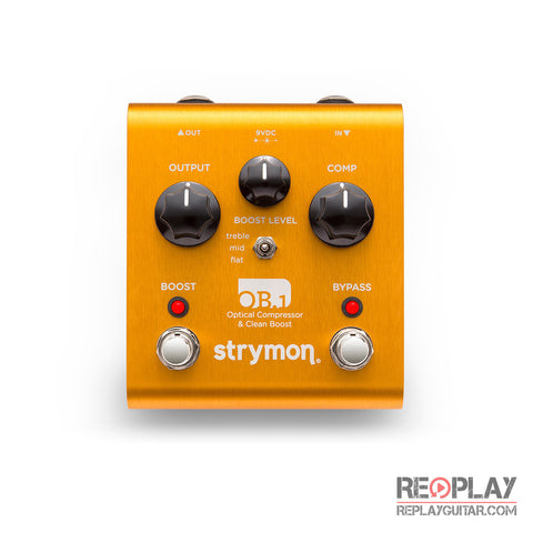 Strymon OB.1 Optical Compressor & Clean Boost (With Bass Modification)