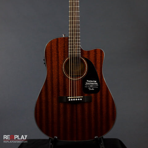 Fender CD-60CE All Mahogany Acoustic Guitar