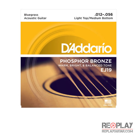 D'Addario EJ19 Phosphor Bronze, Bluegrass, 12-56