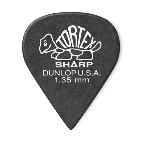 Dunlop Tortex Sharp 1.35mm Guitar Pick, 12-Pack