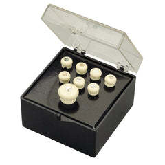 Martin Pin Set, White With Pearl Inlay