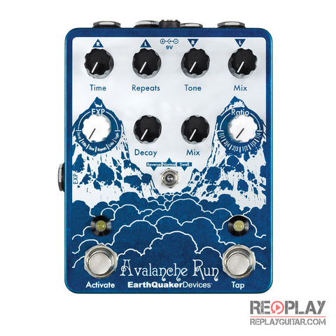 EarthQuaker Avalanche Run Stereo Delay & Reverb Pedal