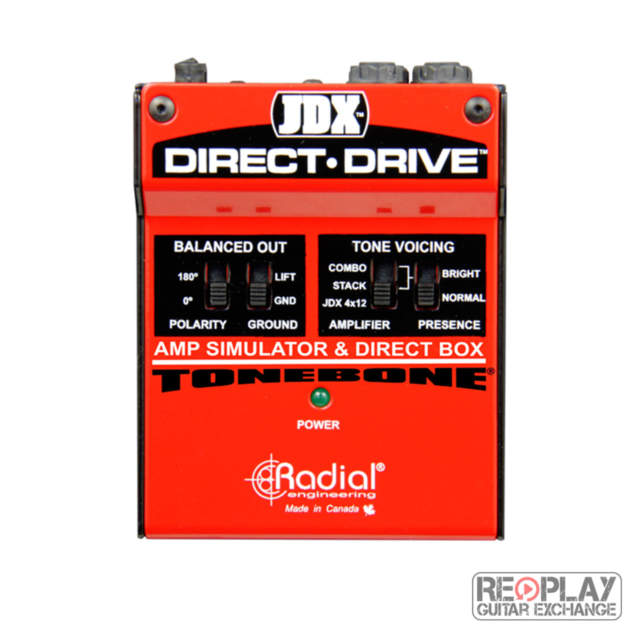 Radial JDX Direct Drive amp simulator and DI