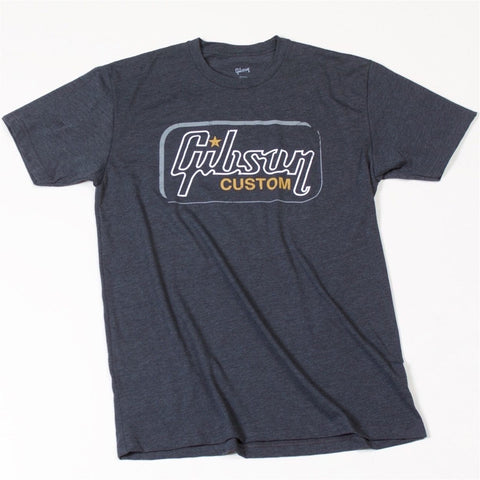 Gibson Custom T-Shirt, XL, Heathered Gray