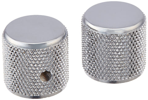 Fender Telecaster PBass Chrome Knurled Knobs (2)