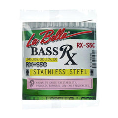 La Bella RX-S5C Rx Stainless 5-String Bass, 45-130
