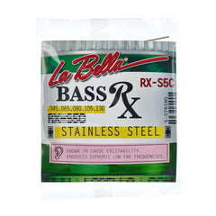 La Bella RX-S4C Stainless Steel Round Wound 4-String Bass, 45-105