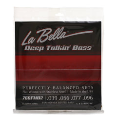 "La Bella 760FHB2 ""Beatle"" Bass Stainless Flats, 39-96"