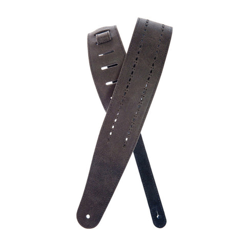 D'Addario Planet Waves Leather Guitar Strap, Black Rows