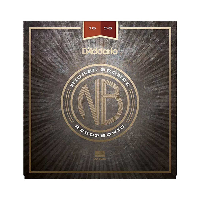 D'Addario Nickel Bronze Acoustic Guitar Strings, Resophonic Guitar, 16-56