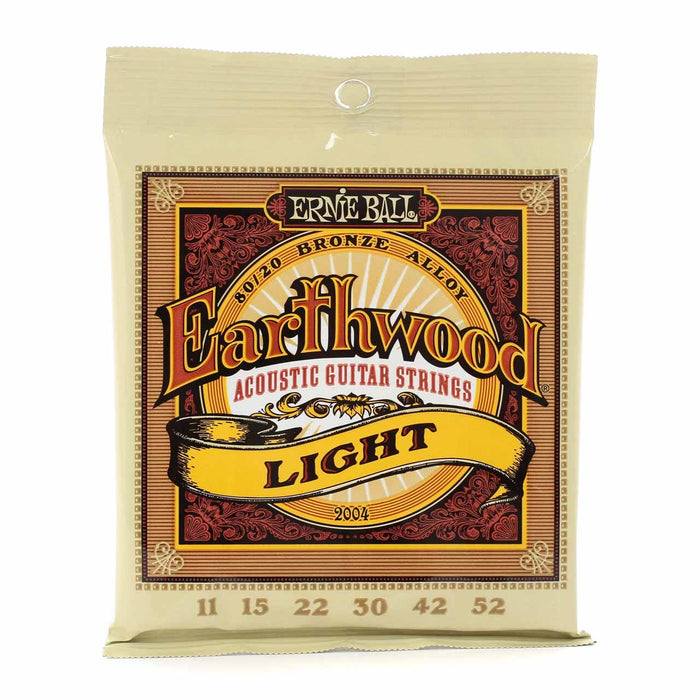 Ernie Ball Earthwood Light 80/20 Bronze Acoustic Set, .011 - .052