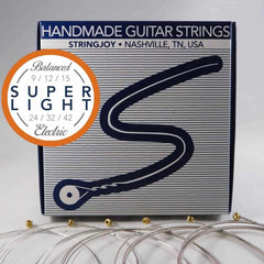 Stringjoy Balanced Super Light Gauge (9-42) Nickel Wound Electric Guitar Strings