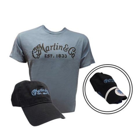 Martin Hat & T-Shirt Combo, Lake/Black, XL