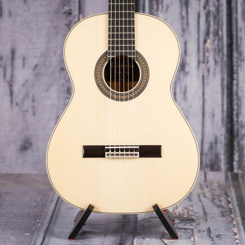 Cordoba 45 Limited Acoustic Classical Guitar, Natural, front closeup