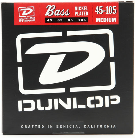 Dunlop DBN45105 Nickel Plated Steel Medium Bass Strings