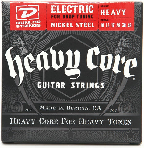 "Dunlop DHCN1048 Heavy Core NPS Electric Strings - .010-.048 ""Heavy"""