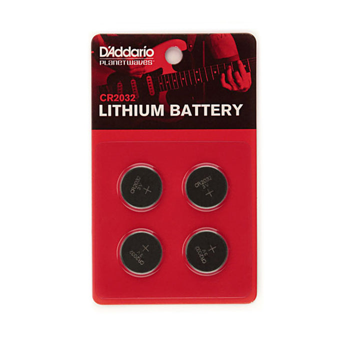 D'Addario CR2032 3 volt lithium batteries - 4 pack