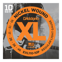 D'Addario EXL110-10P Nickel Regular Light - 10 set box