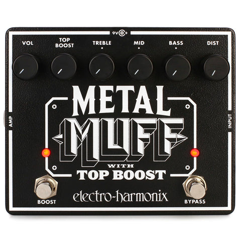 Electro-Harmonix Metal Muff Distortion Pedal With Top Boost