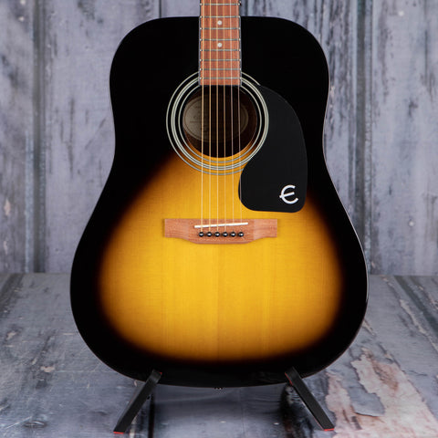 Epiphone PRO-1 Dreandought Acoustic Guitar, Vintage Sunburst, front closeup