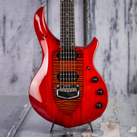 Ernie Ball Music Man John Petrucci Majesty Electric Guitar, Red Sunrise, front closeup