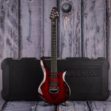 Ernie Ball Music Man John Petrucci Monarchy Series Majesty, Royal Red, case