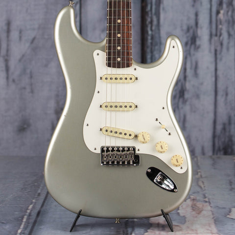Fender 2020 Limited '59 Stratocaster Journeyman Relic w/ Closet Classic Hardware Electric Guitar, Faded Aged Inca Silver Metallic, front closeup