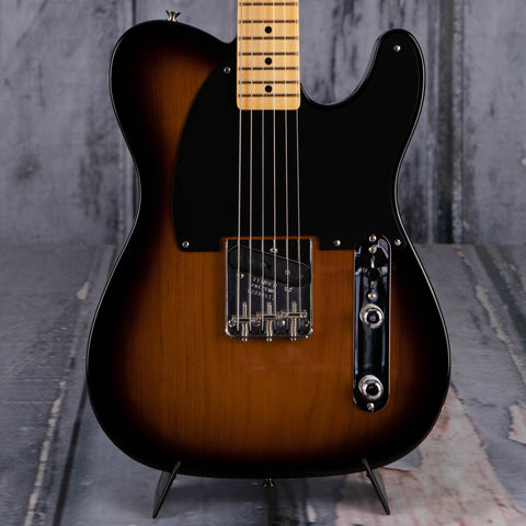 Fender 70th Anniversary Esquire Electric Guitar, 2-Color Sunburst, front closeup