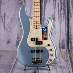 Fender American Elite Precision Bass, Satin Ice Blue Metallic